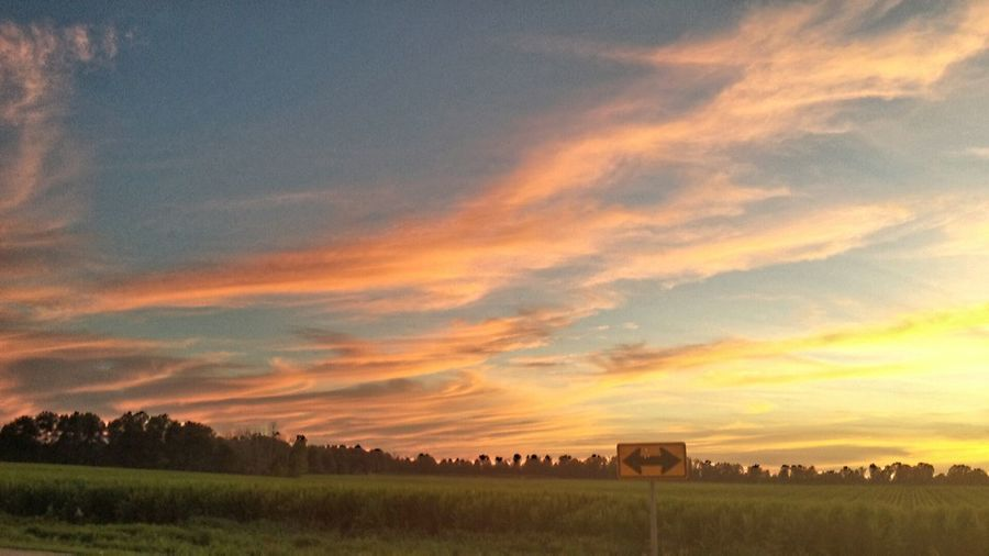 Michigan beauty! Sunset Sky Beauty In Nature Countryside Outdoors Field Farmlandscape EyeEm Gallery Cloud Cloud - Sky Rural Scene
