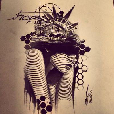 Human emotion serie .... Torstenmatthes Mrttattoo Tattooartist  Fullcustomtattoo Drawing Freehand Hope