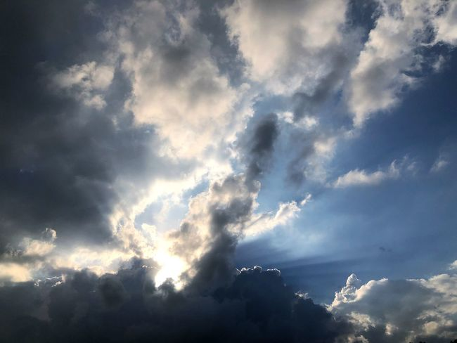 Cloud - Sky Sky Beauty In Nature Low Angle View Tranquility Scenics - Nature No People Nature Tranquil Scene Day Sunlight Outdoors Dramatic Sky Cloudscape