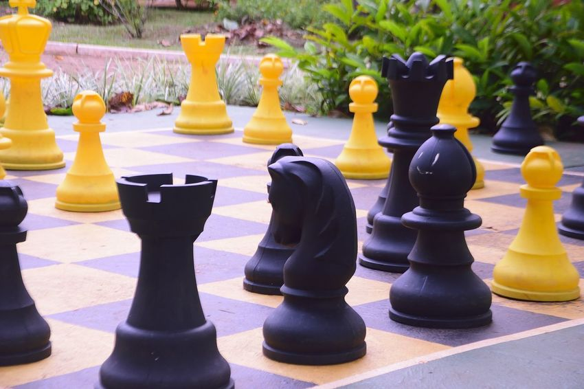 Nikon Board Game Chess Chess Board Chess Game Chess Piece Close-up Day King - Chess Piece Knight - Chess Piece Leisure Games Outdoors Pawn - Chess Piece Queen - Chess Piece Sport Sports Sports Photography Strategy EyeEmNewHere