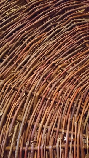 Abundance Backgrounds Brown Close-up Day Full Frame Large Group Of Objects No People Outdoors Textured  Weave Willow Woven Woven Baskets Woven Pattern