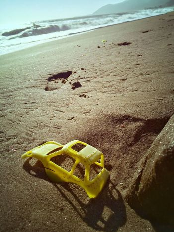 Showcase July Lost Toy Sandy Beach Yellow Buggy Summer Lone No People Washed Up Sea Gift Plastic Car