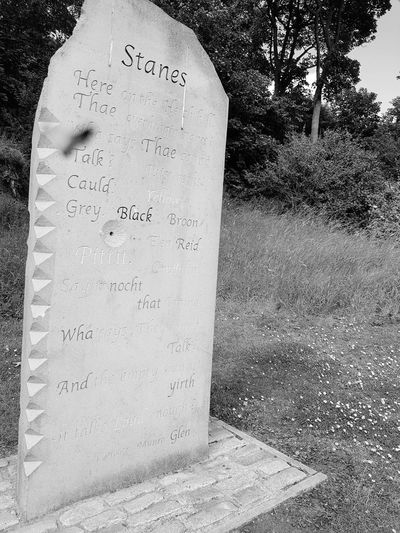 Stanes Poem - Kirkcaldy Beautiful EyeEm Selects Outdoors Beautiful Day White Scotland Poetry Kirkcaldy Ravenscraig Artoftheday Blackandwhite Black And White Photography History