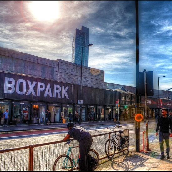 Boxpark Shoreditch London Streetphotography hdr highdynamicrange nofilter awesome flare sun photography nikon street