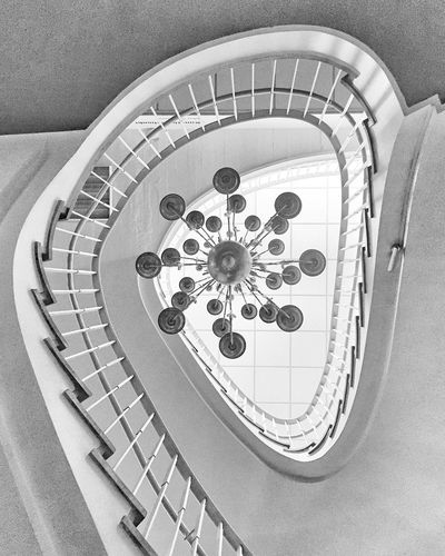 Looking up in a museum... Staircase The World Needs More Spiral Staircases Architecture Stairs Architecture_bw Blackandwhite NEM Black&white