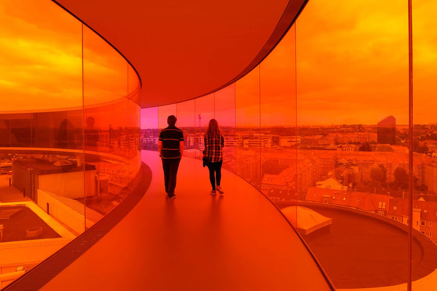 Architecture Art Colours Coloursplash Installation Leading Lines Olafur Eliasson The Way Forward Vanishing Point Your Rainbow Panorama