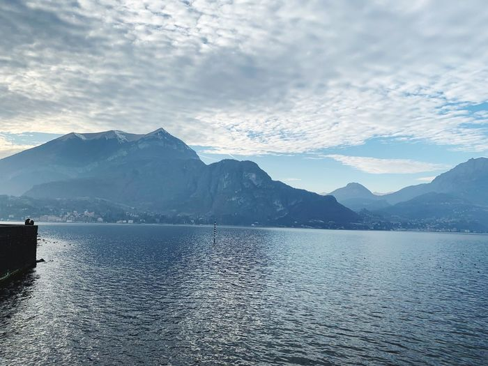Bellagio Como Como Lake Water Mountain Scenics - Nature Sky Beauty In Nature Cloud - Sky Mountain Range Tranquil Scene Tranquility Lake Nature Outdoors No People Waterfront Reflection Day Idyllic Non-urban Scene