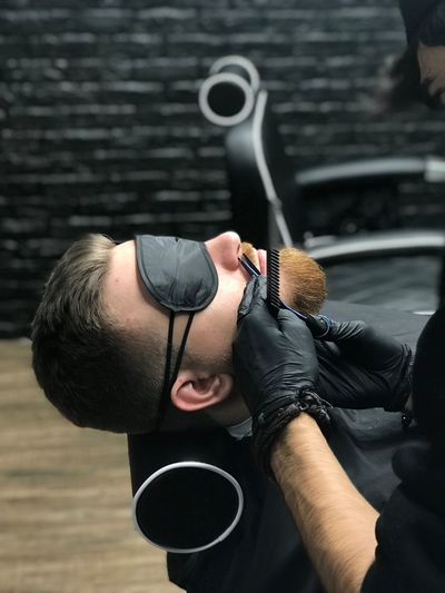 Gloves Black Mask Mask Scissors Pair Of Scissors Shear Bearded Man Bearded Guy Hands Hand Black Beardedman Beardedguy Bearded Beard Barber Shop Barbershop Barber Барбершоп руки Man мужчина парень EyeEm Selects One Person Lifestyles Real People Leisure Activity Adult Men