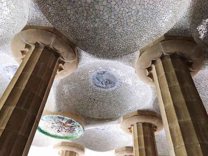 Barcelona, Spain Low Angle View Built Structure Indoors  Architecture No People Ceiling Building