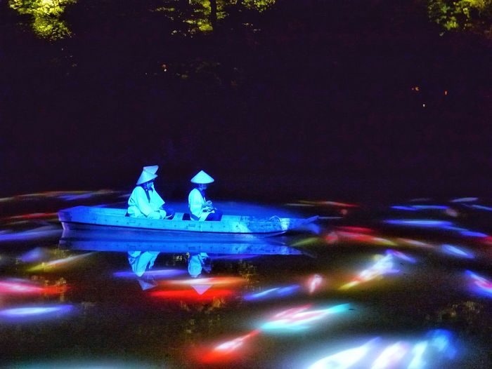 SummerNights Illusion Projection Mapping Drawing Mifuneyama Rakuen Pond Water Reflections Nightphotography Elegance Everywhere Japan Photography Takeo City Saga prefecture KYUSHU Lighting Up the future