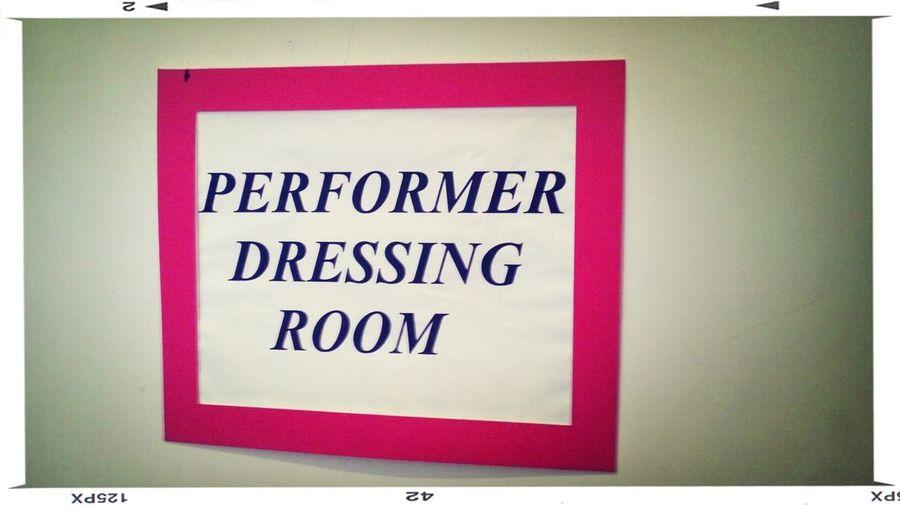 Concert dressingroom 2013