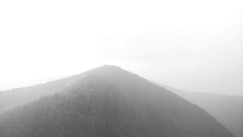 Fading out. Mountains Mountains And Sky Foggy Blackandwhite Village Snow Cold Temperature Winter Architecture Triangle Shape