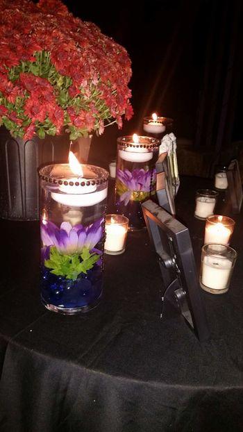 Candle Glowing Illuminated Night Flame Flower