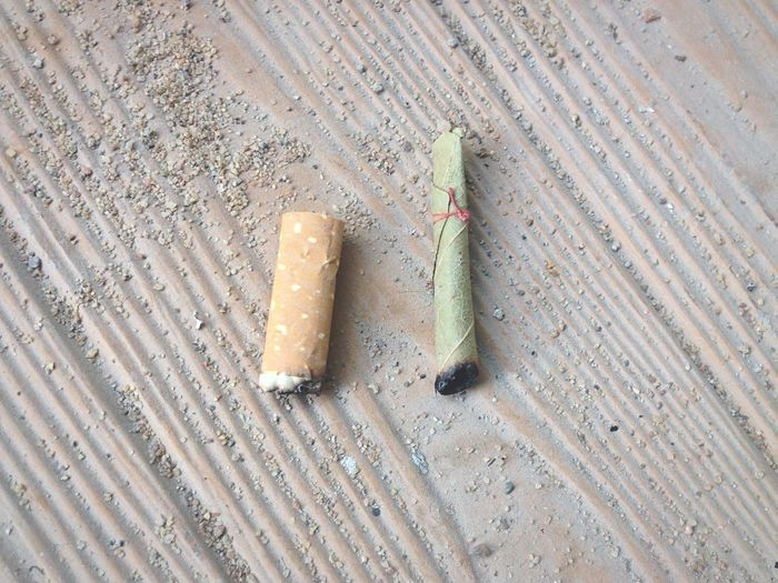 Close-up of cigarette with bidi