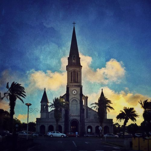 Eglise de Curepipe soleil couchant Streetphoto_color Church Sunset Sky Collection AMPt_community IPhoneography Mauritius Travel Photography Architecture Scenery