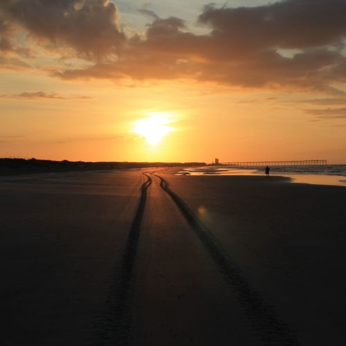 Sunset Beach, NC Beach Sunrise On The Beach Sea Beauty In Nature
