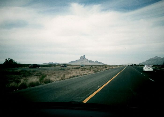 Picacho Peak in AZ. A sure sign we're heading home.