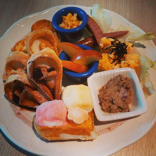 高雄 ,Kaohsiung ,FlowerWaffle, 特製花瓣鬆餅, 鬆餅,Heart, 有甜又有鹹,好適合我???