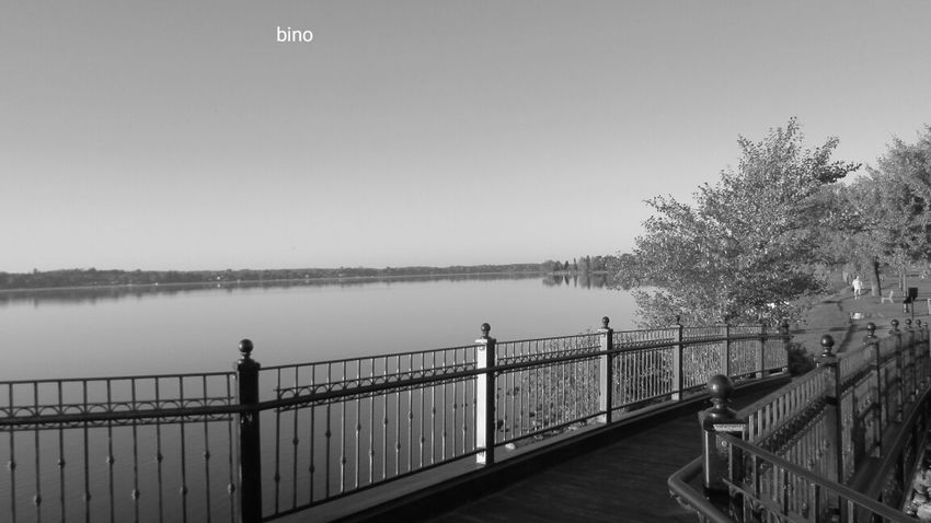 Out Early Shooting Railing Tranquility From The Foot Bridge Cool Angle Black And White Photography Lake Cadillac Pure Michigan