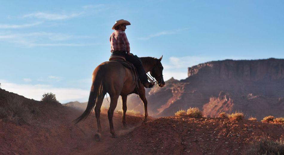 Horse Cowgirl Utah Moab, Utah Riding Horses