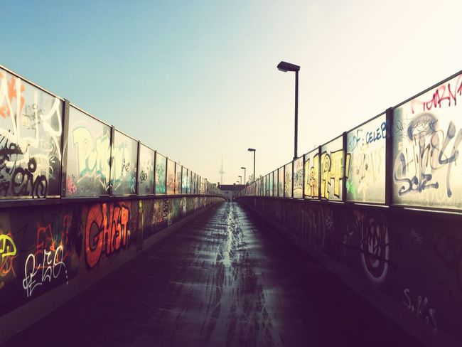Perspective view /// Graffiti Architecture Clear Sky The Way Forward Outdoors City No People Urban Bridge