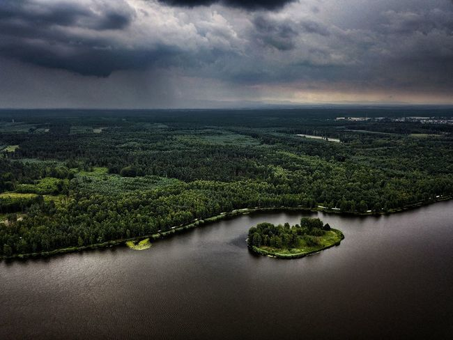 Dramatic Sky Cloud - Sky Scenics Beauty In Nature Landscape Sky Nature Outdoors Dronephotography Aerial Photography Mavic Pro Aerial View Nature Water Forest Lake Lake View Clouds No People Poland
