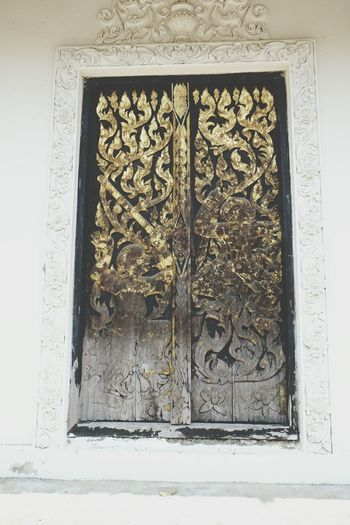 Thailand Thai Cultural Art Of Thai The Door In Thai Temple