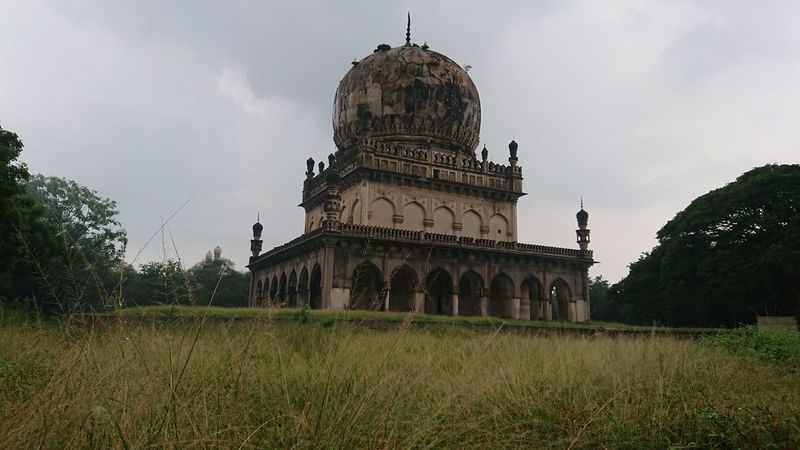 Landscape view of Qutub Shahi Tomb Architecture Dome Travel Destinations Built Structure Politics And Government History Façade Business Finance And Industry Building Exterior Cloud - Sky Sky Government Day No People Grass Outdoors City Metal Industry Sony Xperia Xz1 Xperian Photography Qutub Shahi Tombs Hyderabad Monuments Eyeem Architecture Architecture Photography Architecture_collection