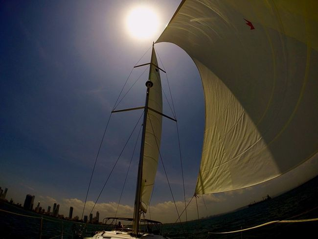 Sailing away and no looking back.. Sun Nautical Vessel Sky Sailboat Sailing Second Acts Departing Sadness Depression New Life New Hope Going Sailing