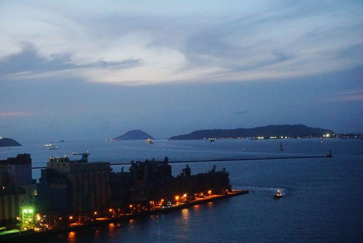 In Japan Hakata PortTower Fukuoka City  Sea And Sky Island