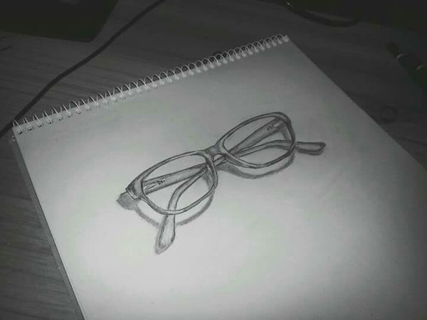 """my glasses, for my first 3D """" attempt """" 😆 Drawing Sketching Sketchbook Sketch Art, Drawing, Creativity Drawings 3Dart 3Ddrawing Glasses MyArt"""