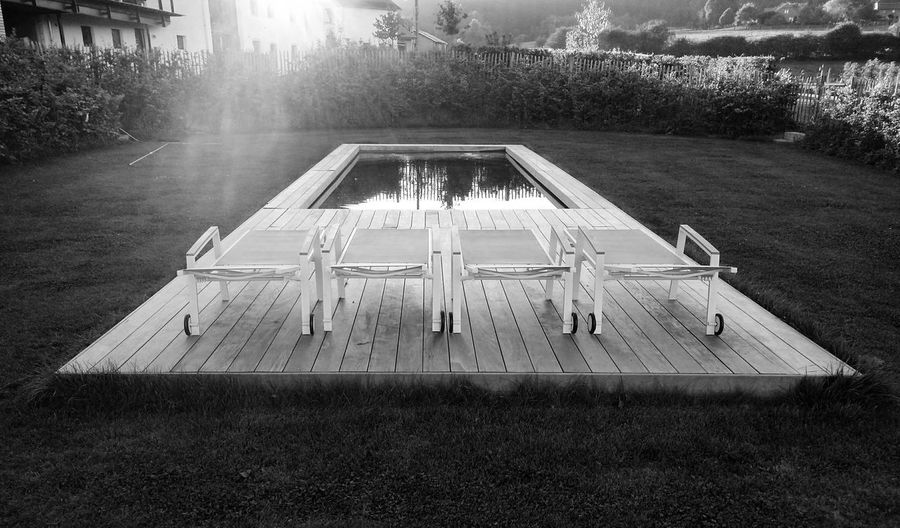 Symmetry Pool Side Blackandwhite