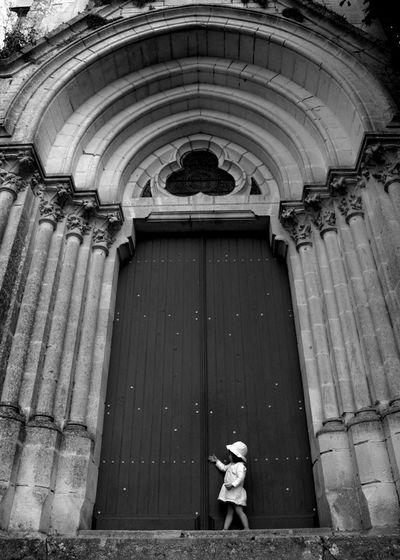 The door. St Martin's Church. Apremont, Vendée. Church Street Photography Pittoresque Black & White