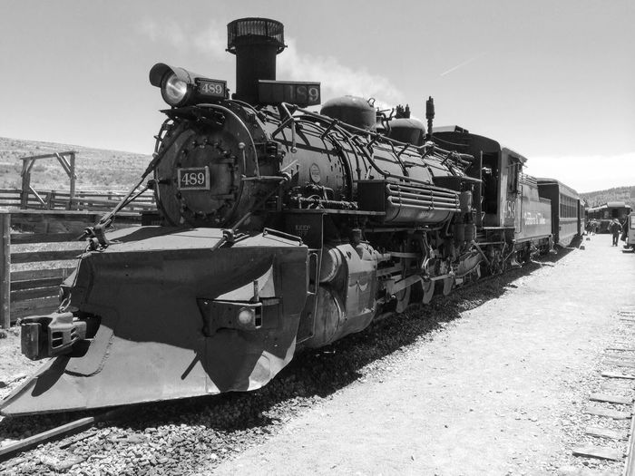 Black And White Friday Train - Vehicle Transportation Rail Transportation Mode Of Transport Railroad Track Old-fashioned Steam Train Locomotive Outdoors Day Public Transportation Sunlight Retro Styled Antique Sky No People