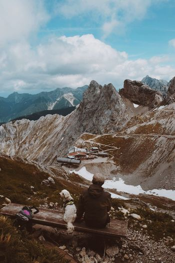 Impressing view. The last time being there the snow was as high as the signposts... Mittenwald Bayern, Germany Karwendelhaus Karwendel Dog Day Scenics - Nature Rock Tranquility Tranquil Scene Travel