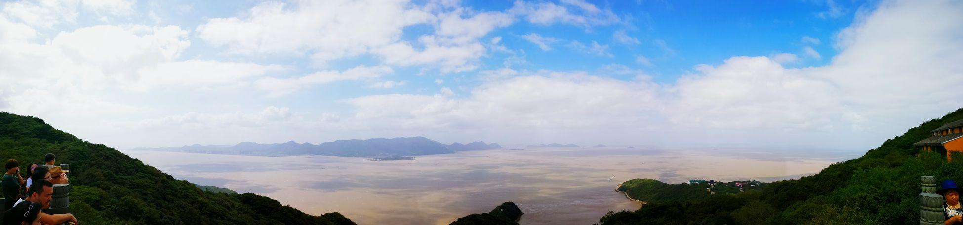 登高佛顶山 一览众岛小。 Outdoors Mountain Blue Sky Sky And Sea 普陀山 Travel Nature