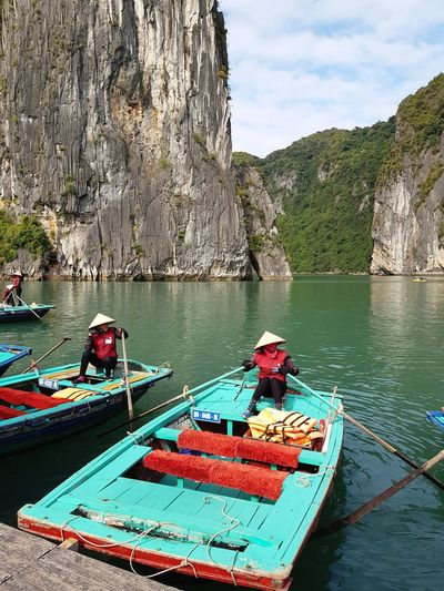 Travel Boat Station Water Nautical Vessel Tree Oar River Sky Boat Port Water Vehicle Houseboat Pedal Boat Rocky Mountains Rock Formation