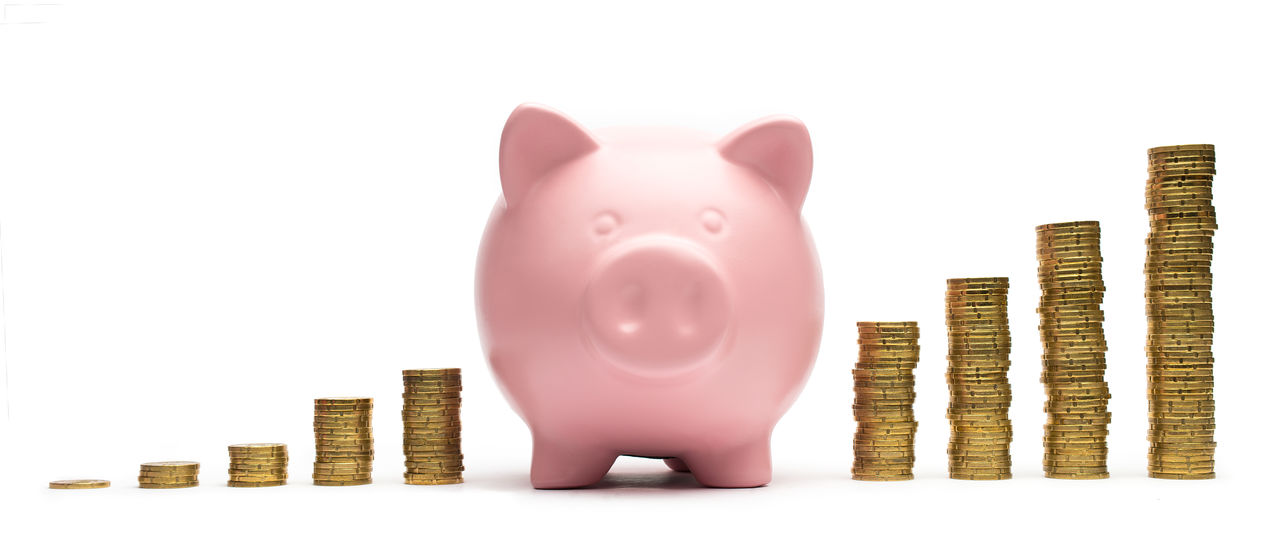 Piggiy bank save money growth graph concept image Budget Business Piggy Bank Bank Account Banking Business Coin Corporate Business Counting Currency Finance Financial Item Graph Growth Home Finances Investment Isolated White Background Making Money No People Piggy Bank Prosperity Savings Stack Stock Market And Exchange White Background