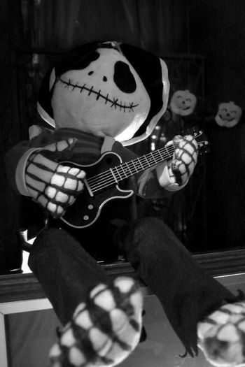 Playguitar Blackandwhite Check This Out Halloween