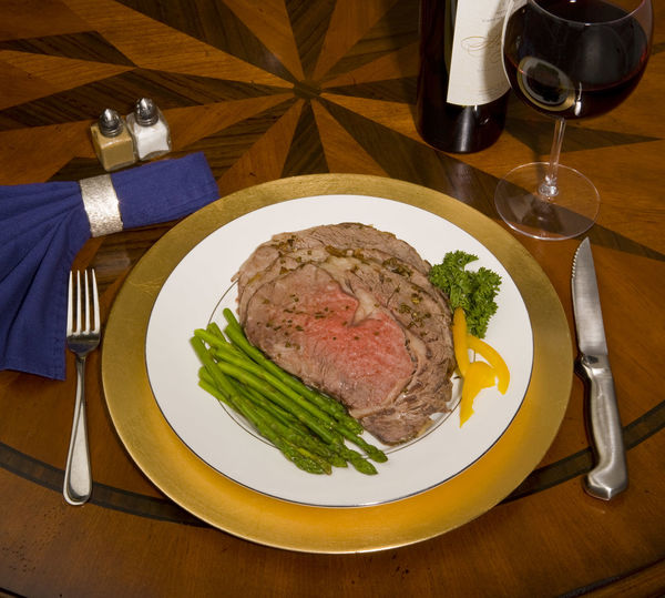 Food Food And Drink Meat No People Plate Prime Rib Ready-to-eat Serving Size Table