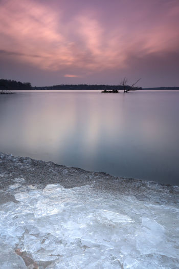 Icy Berlin Berlin Ice Nature Water Reflections Winter Beauty In Nature Day Horizon Over Water Lake Landscape Longexposure Nature No People Outdoors Reflection Salt - Mineral Scenics Sea Season  Sky Sunset Tranquil Scene Tranquility Water Waterfront