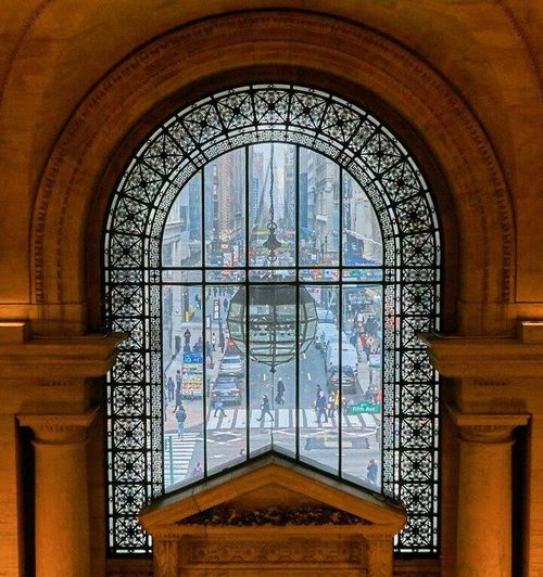 Window No People Indoors  Day Architecture Library City Life New York New York Library Citylove People Lifestyles Architecture Road Zebra Crossing Light Lights
