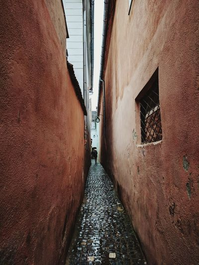 The narrowest street in the world No People Sky