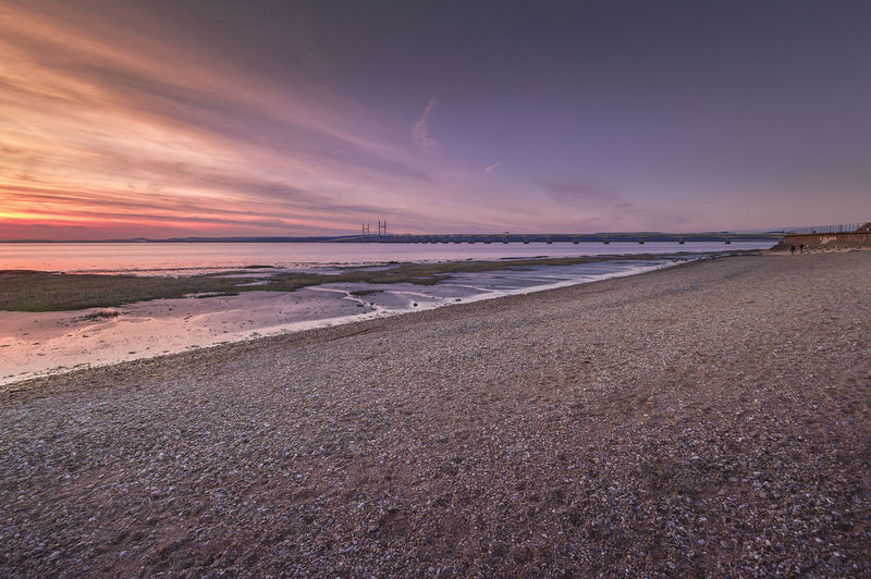 Sand beach at Severn beach, Bristol. Bristol, England Beach Beauty In Nature Day Horizon Over Water Landscape Low Tide Nature No People Outdoors Sand Scenics Sea Severn Beach Sky Sunset Water