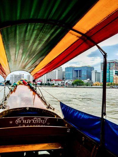 Boat tour along Chao Phraya River, Bangkok Chao Phaya River Bangkok Thailand.