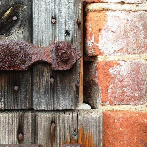 Rust Bricks Wood