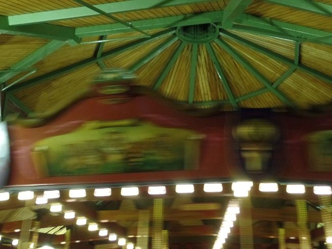 Carousel in motion Samsung Samsungphotography Carosel Illuminated Low Angle View Indoors  Architecture Built Structure No People Roof