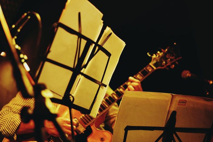 Musical Instrument Indoors  Night Music Brings Us Together Arts Culture And Entertainment Concert Bossanova Close-up Performance Jazz Music Music Concert The Week On Eyem Black Background Musician Show Jazz