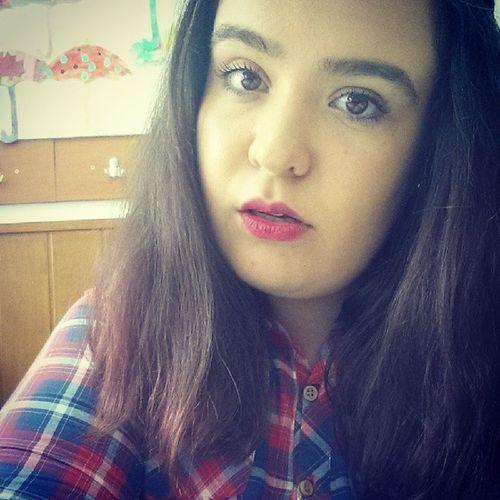 Girl Cute UaU Makeup beautiful ruj rosu haha halloween red lips