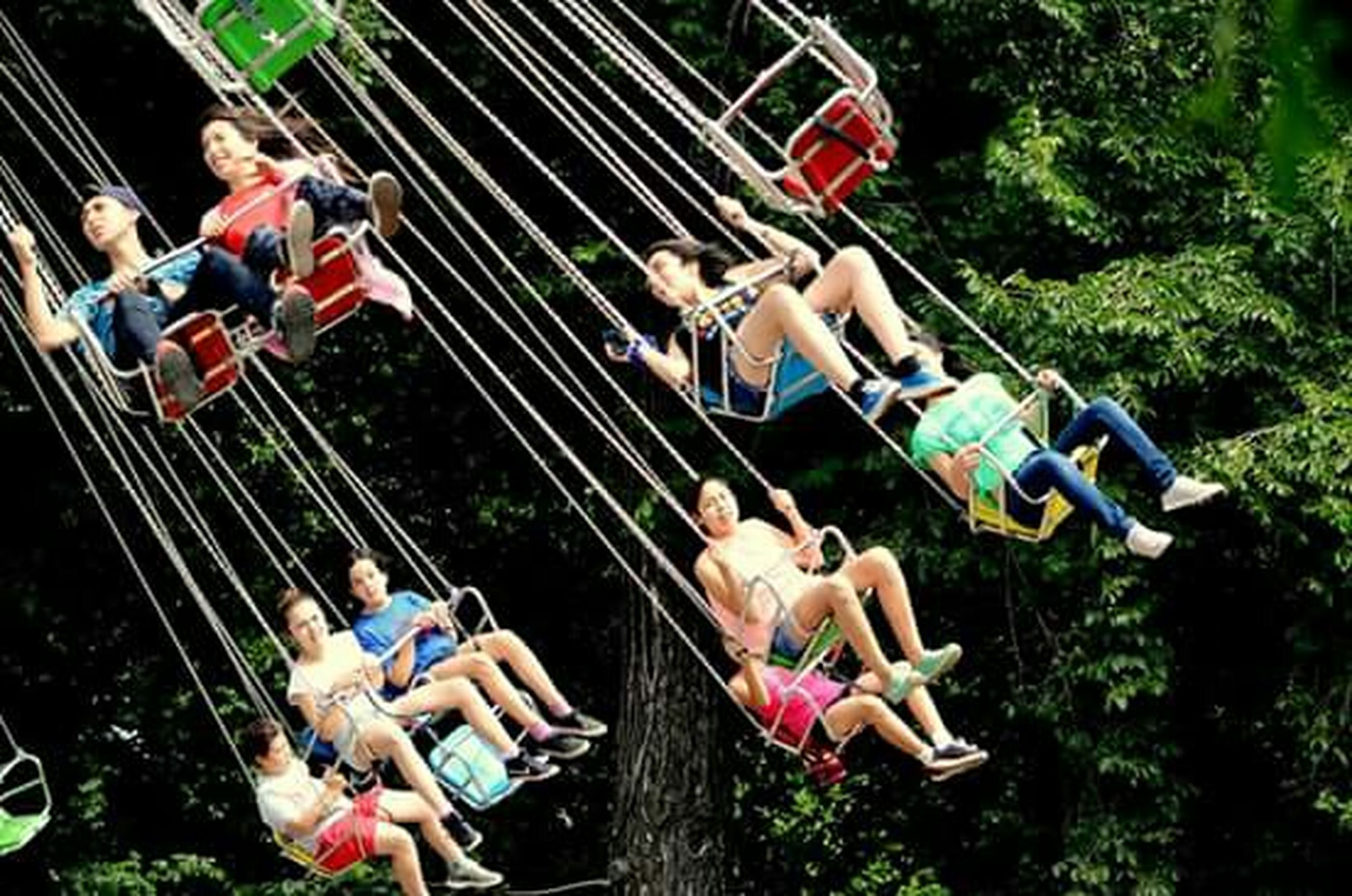 men, lifestyles, leisure activity, person, large group of people, high angle view, casual clothing, working, togetherness, tree, full length, medium group of people, occupation, day, transportation, sitting, outdoors, enjoyment